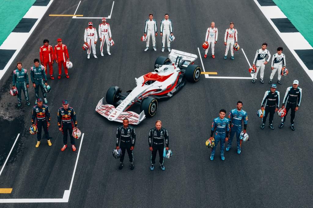 2022 F1 Car Silverstone Grid 3 50s