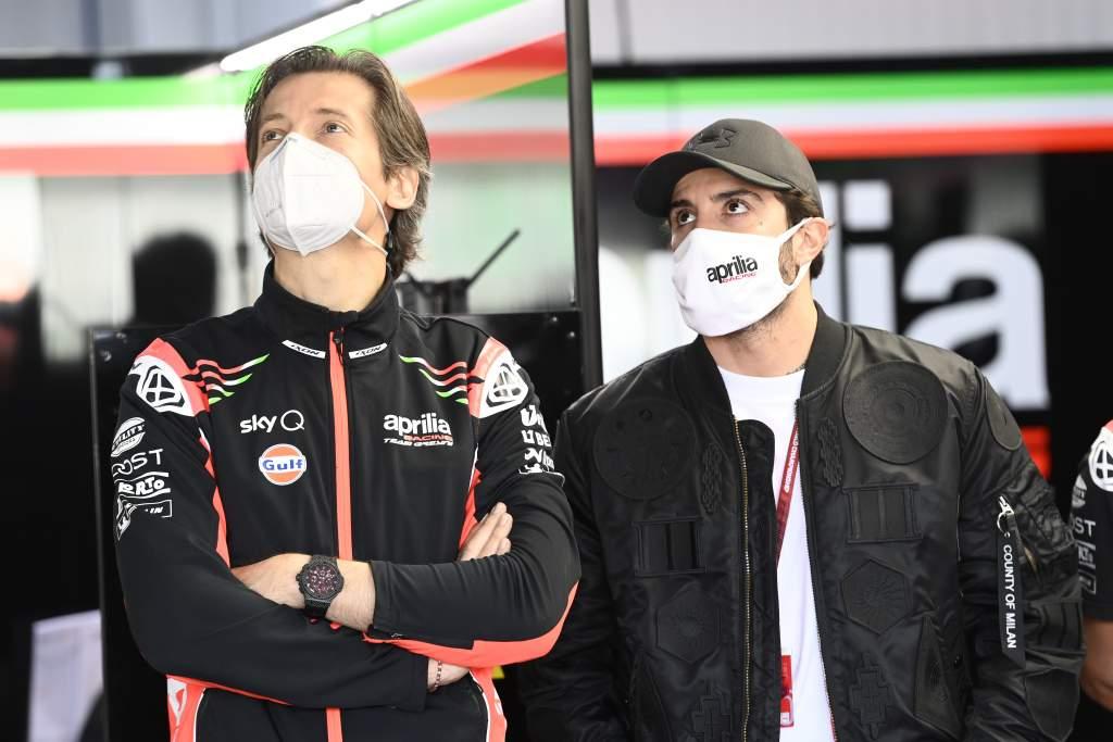 Massimo Rivola Andrea Iannone Aprilia MotoGP