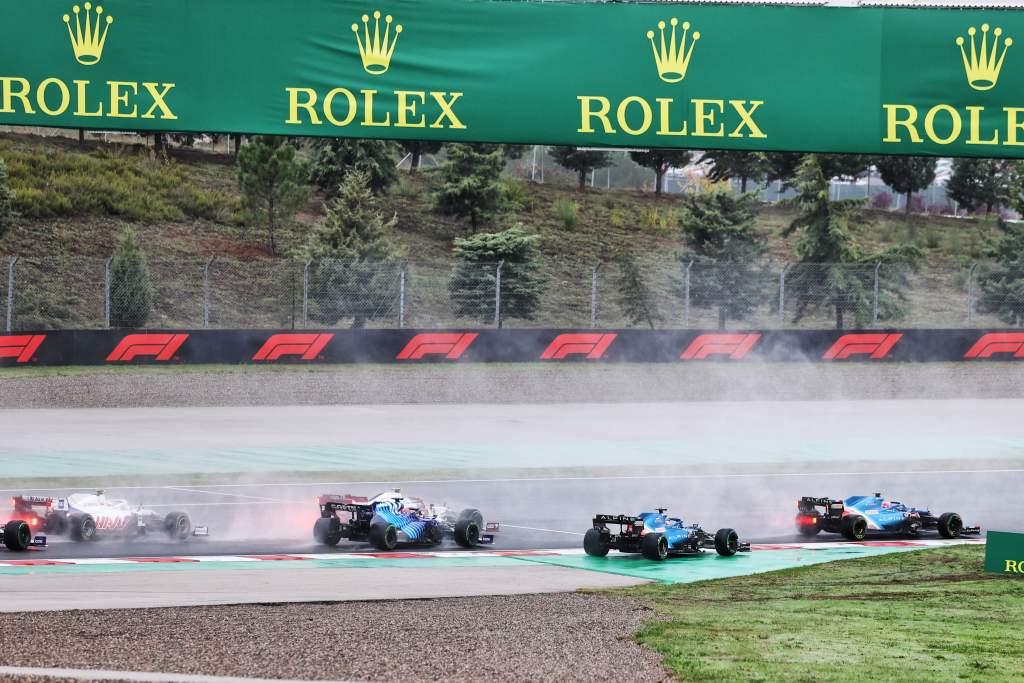 Turkish GP start Fernando Alonso Alpine