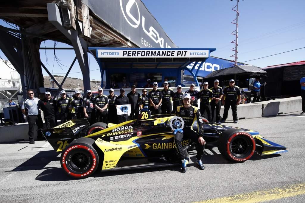 Colton Herta Laguna Seca IndyCar pole