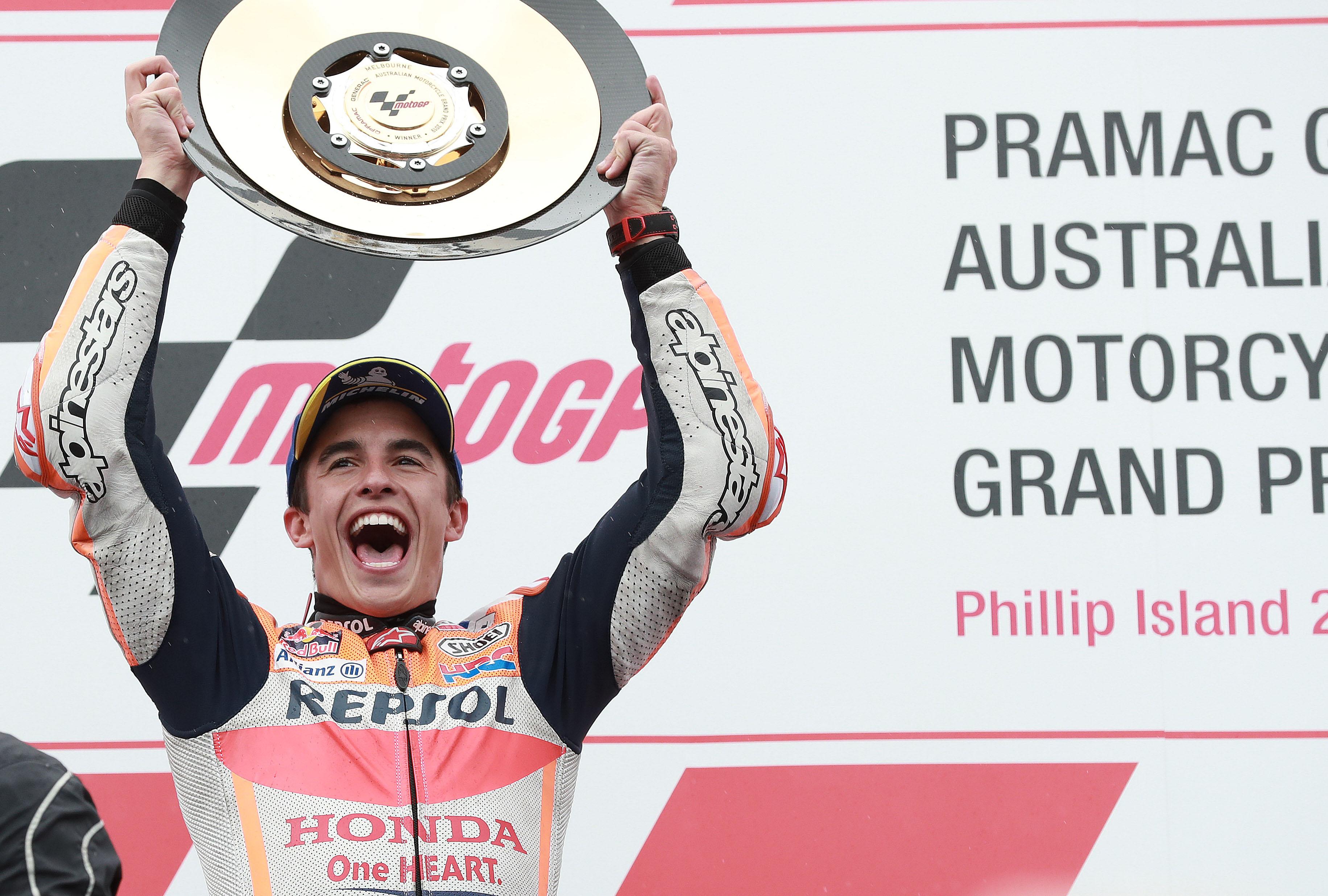 Marc Marquez wins Phillip Island MotoGP 2019