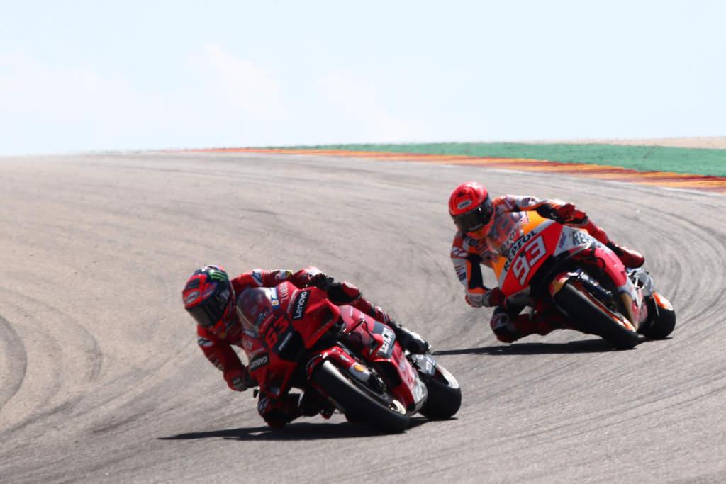 Francesco Bagnaia Marc Marquez Aragon MotoGP 2021