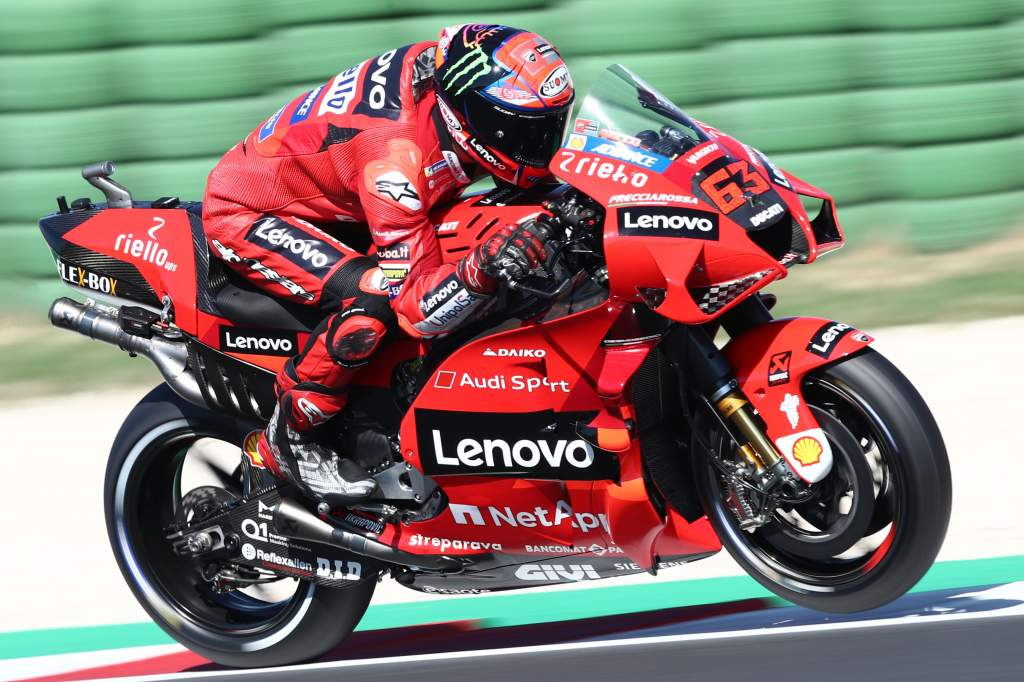 Bagnaia on Misano MotoGP pole, Quartararo crashes - The Race