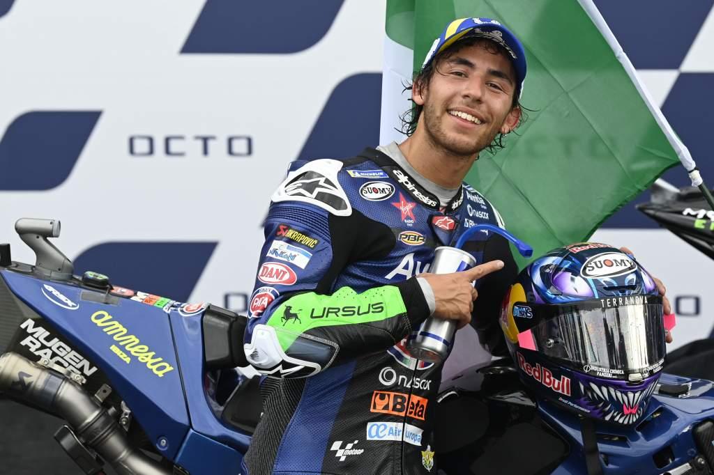 Enea Bastianini Avintia Ducati MotoGP Misano podium