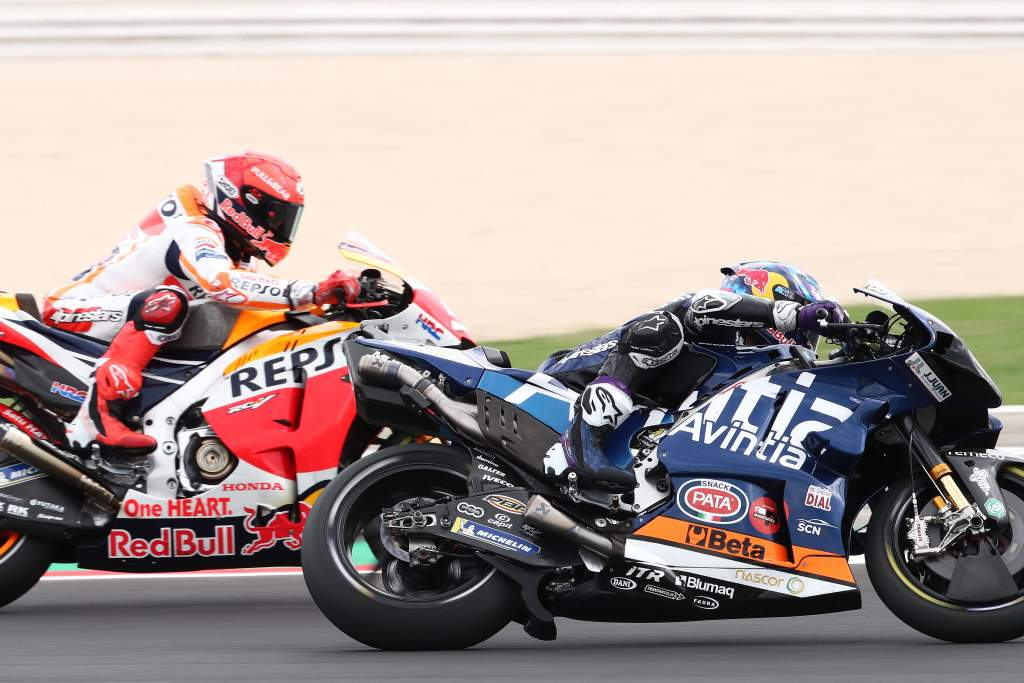 Enea Bastianini Marc Marquez Avintia Ducati Honda Misano MotoGP