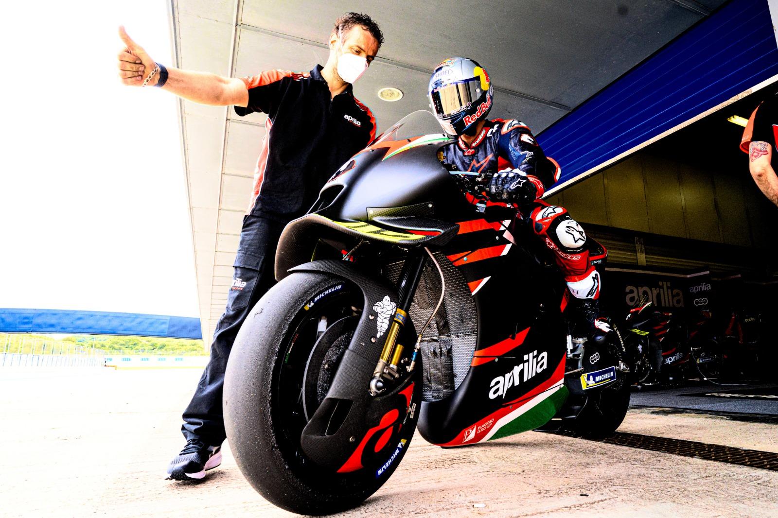 Andrea Dovizioso Aprilia MotoGP test