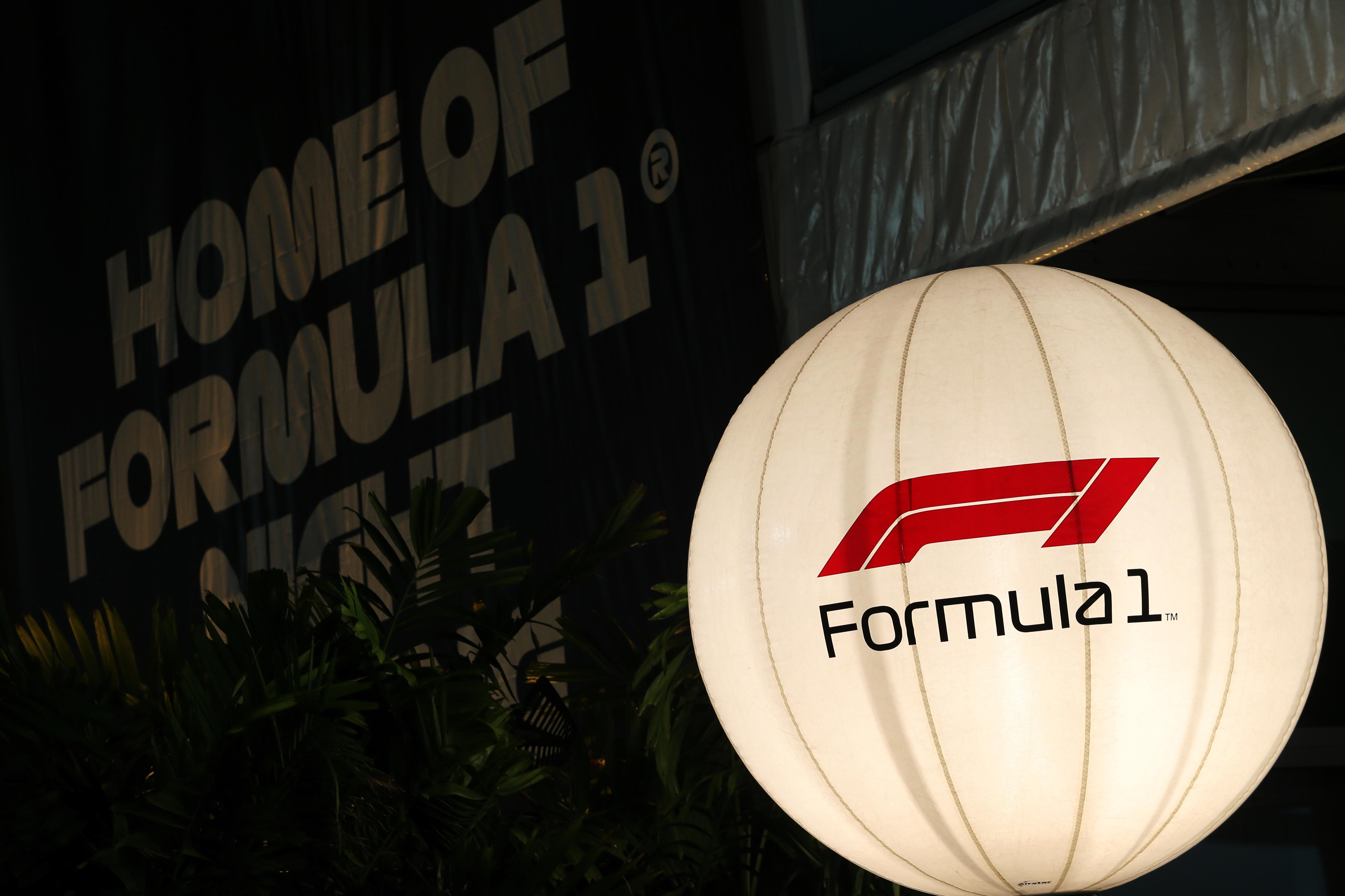F1 logo in F1 paddock