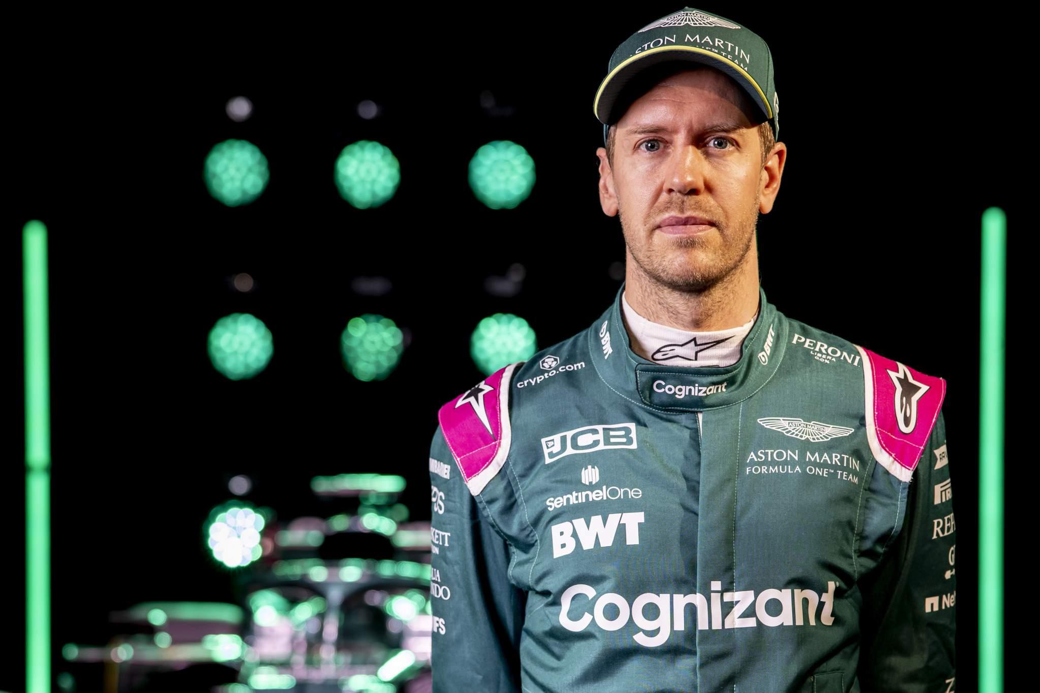 Sebastian Vettel, Aston Martin, In Front Of The Amr21