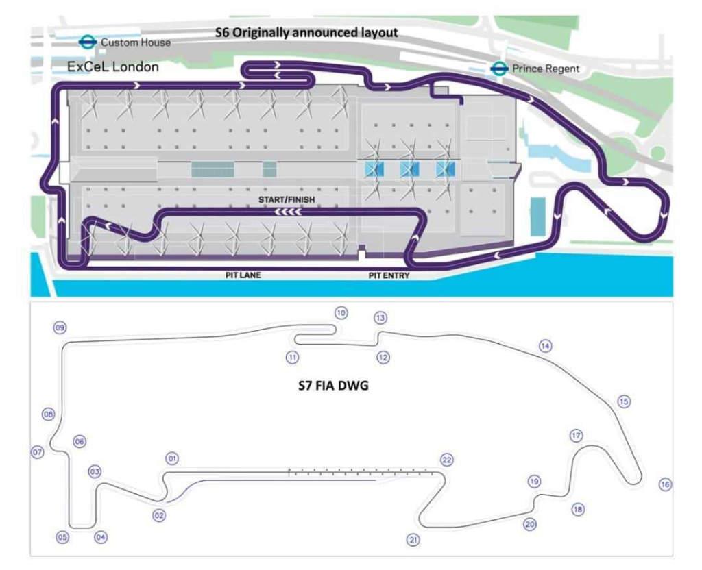 London ExCeL Formula E track