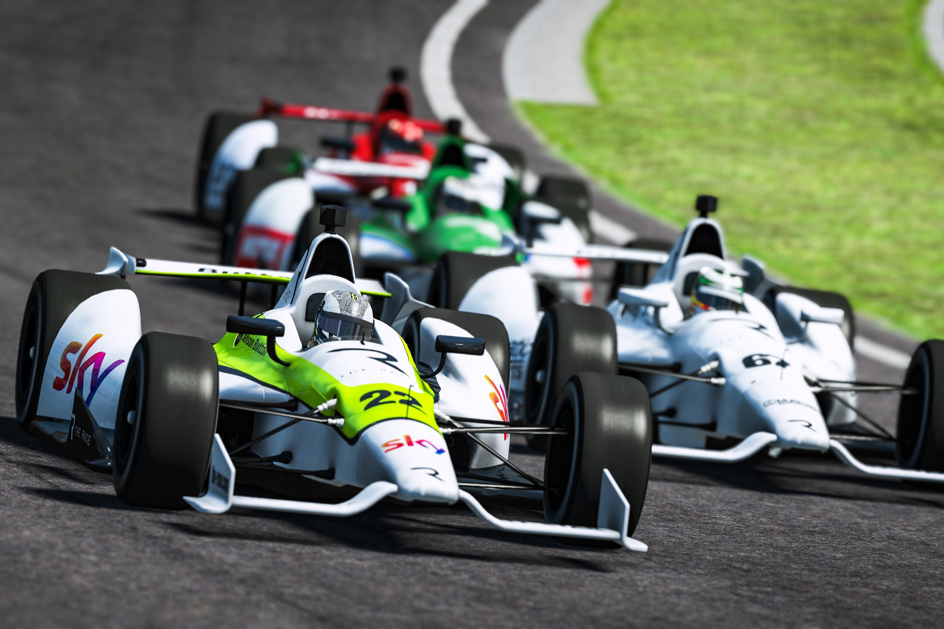 Jenson Button Indy Oval