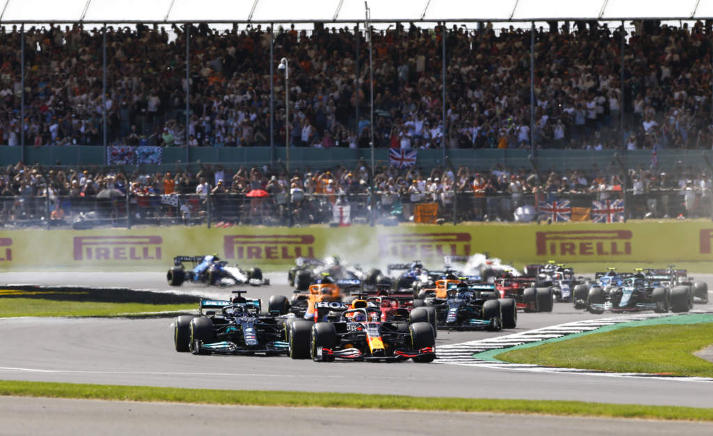 Max Verstappen Lewis Hamilton British GP F1