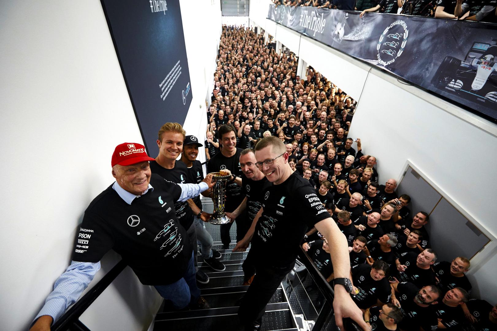 Mercedes 2016 F1 title celebration