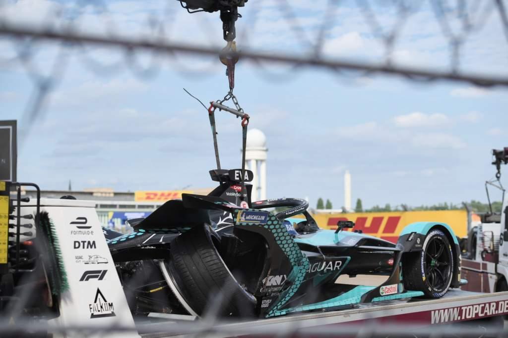 Mitch Evans Jaguar damage Berlin Formula E 2021