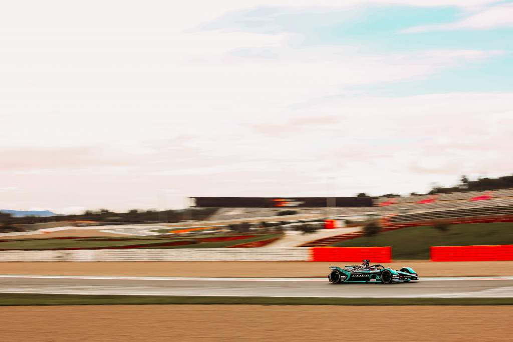 Mitch Evans Jaguar Valencia Formula E test 2020
