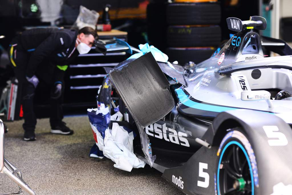 Stoffel Vandoorne damage Rome Formula E 2021