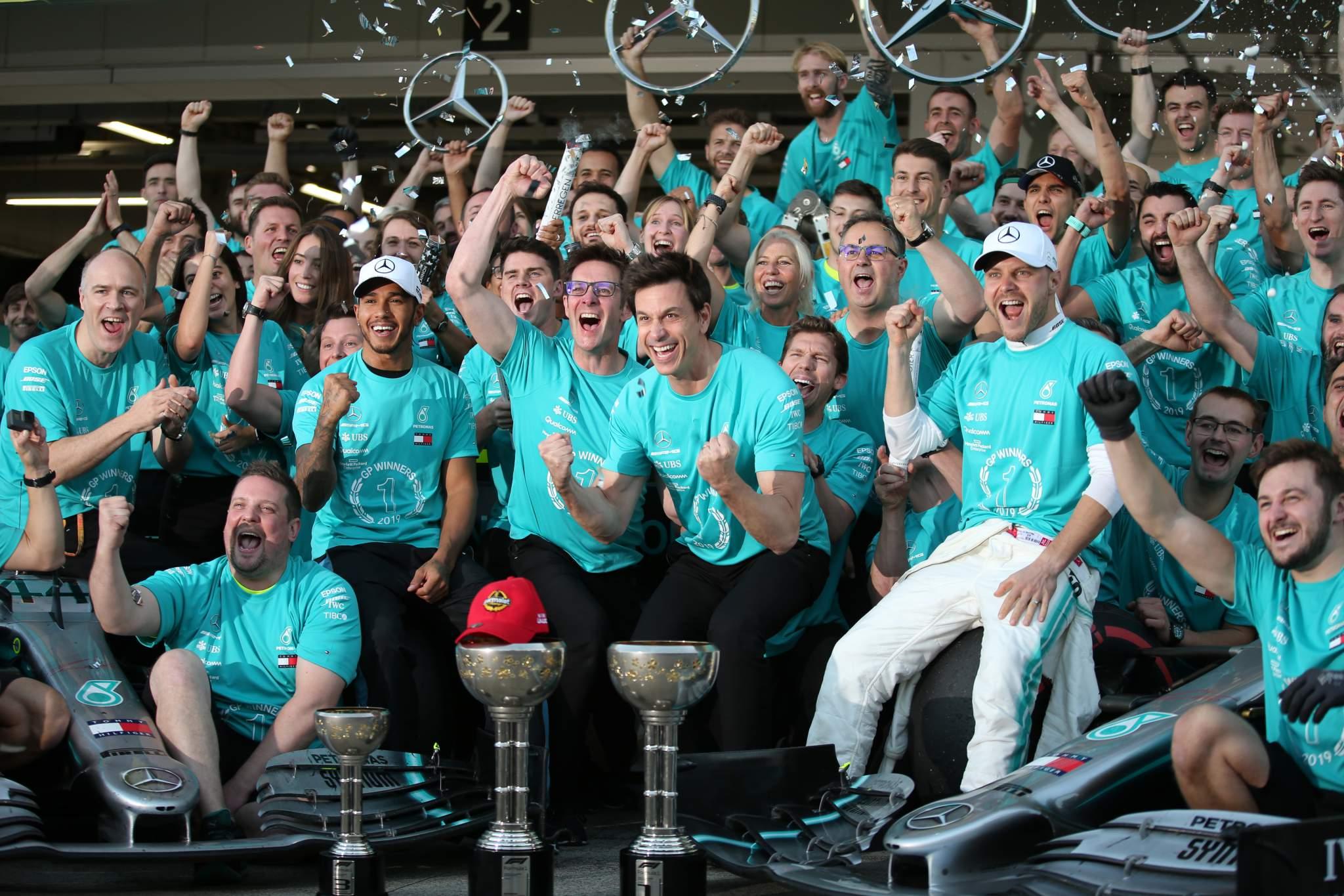 Mercedes wins 2019 F1 title