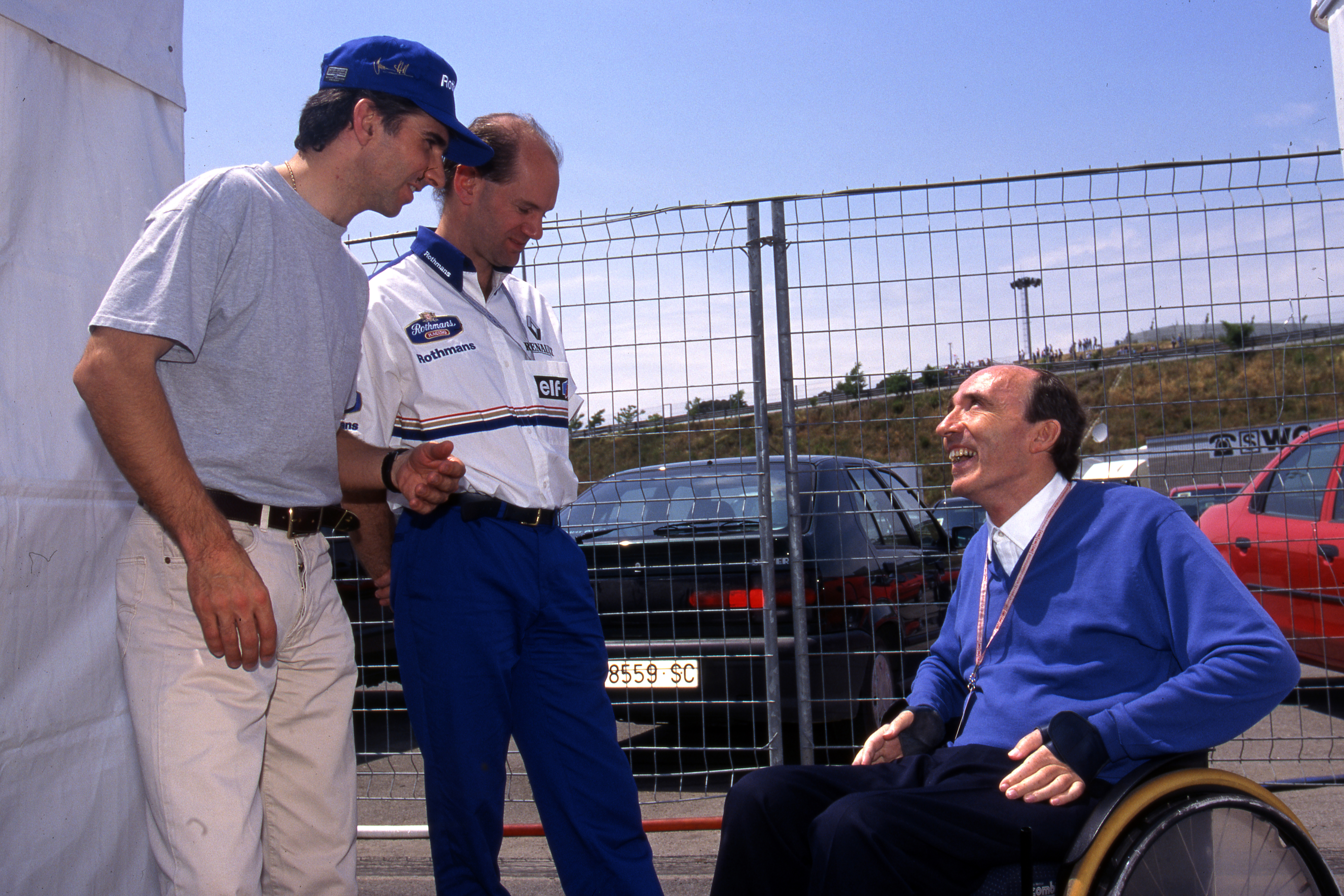 Damon Hill Adrian Newey Frank Williams 1996