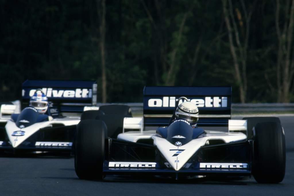 Riccardo Patrese Derek Warwick Brabham Hungarian Grand Prix 1986