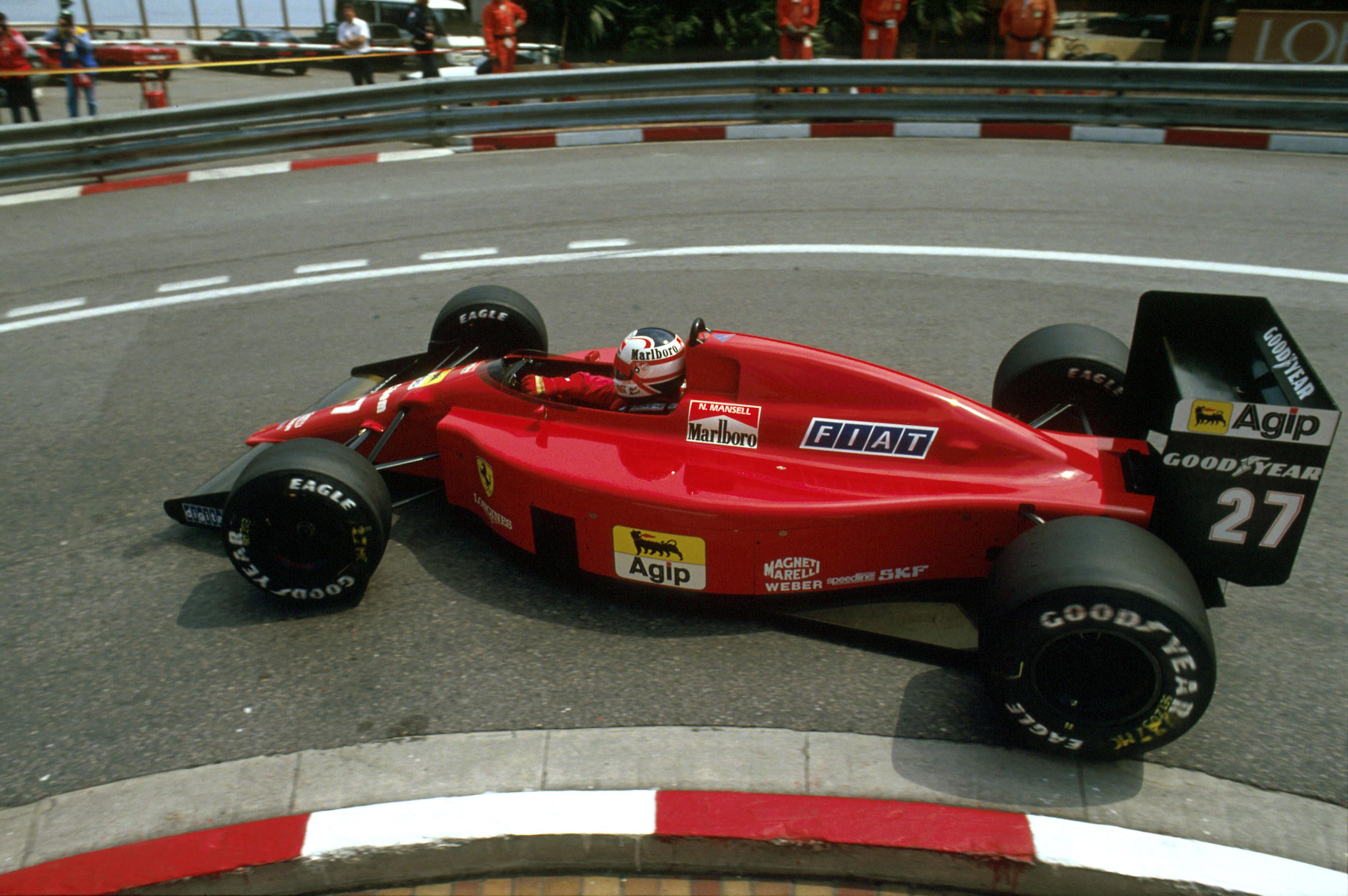 Nigel Mansell Ferrari Monaco Grand Prix 1989