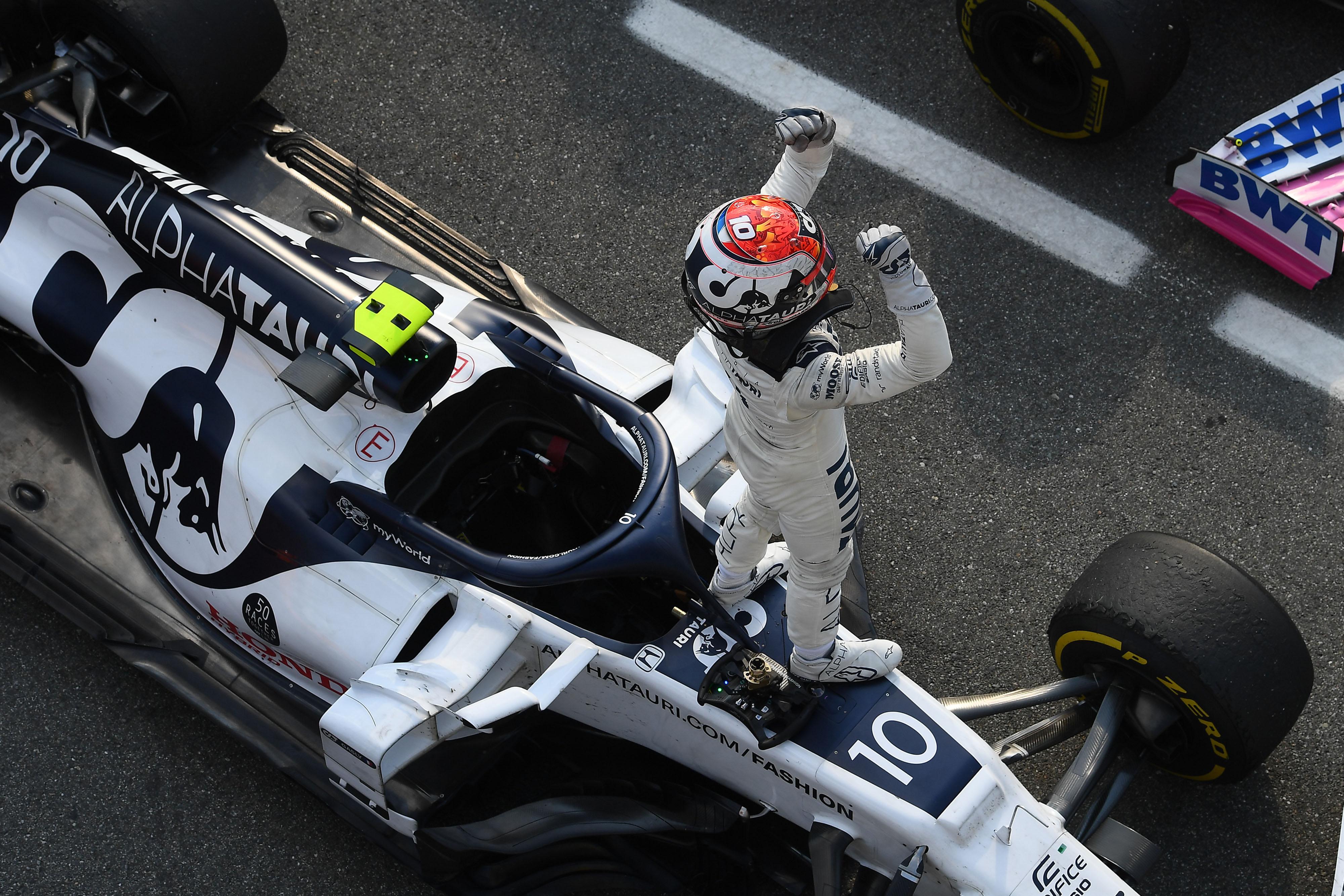 Pierre Gasly AlphaTauri wins Italian Grand Prix 2020 Monza