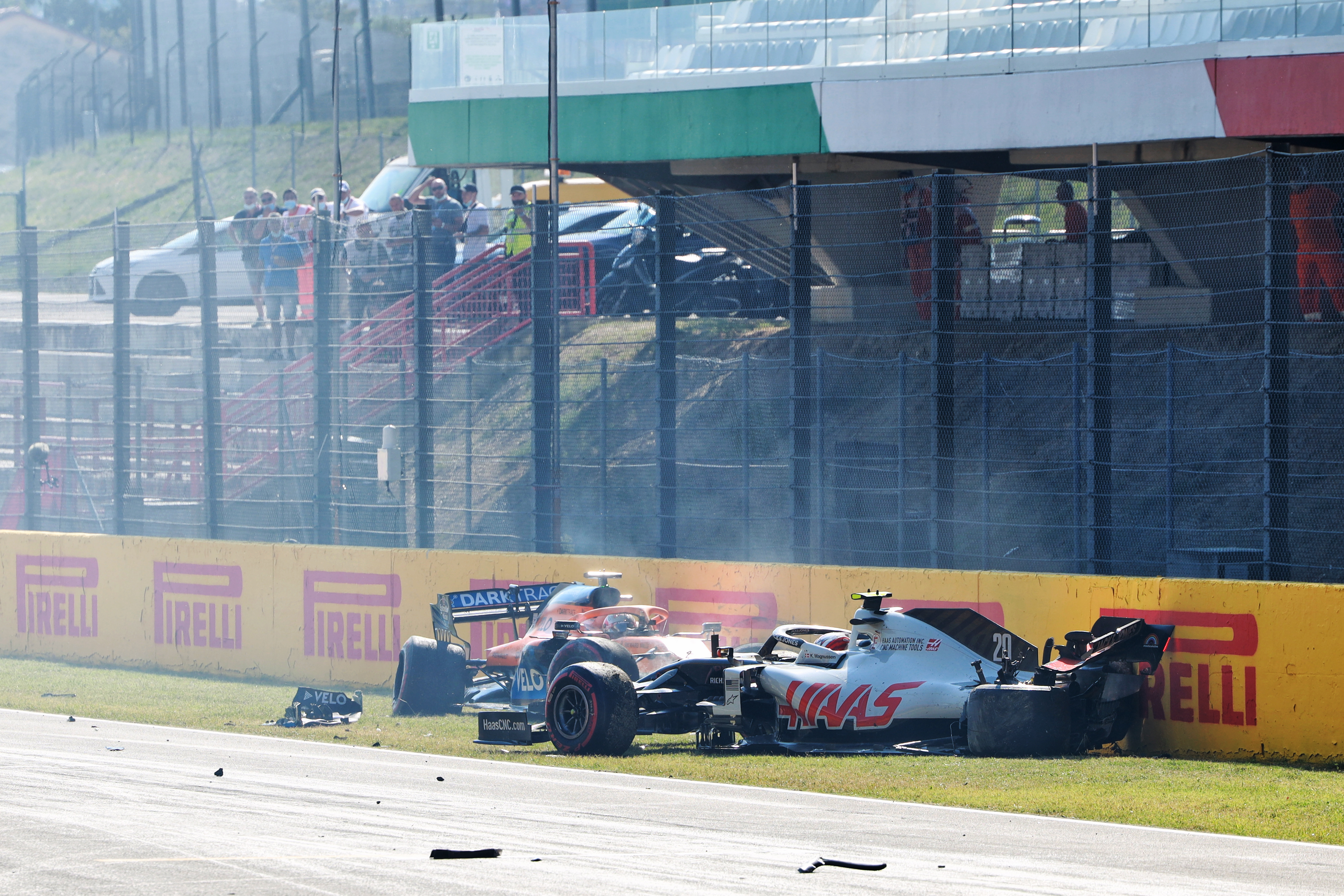 Mugello restart crash