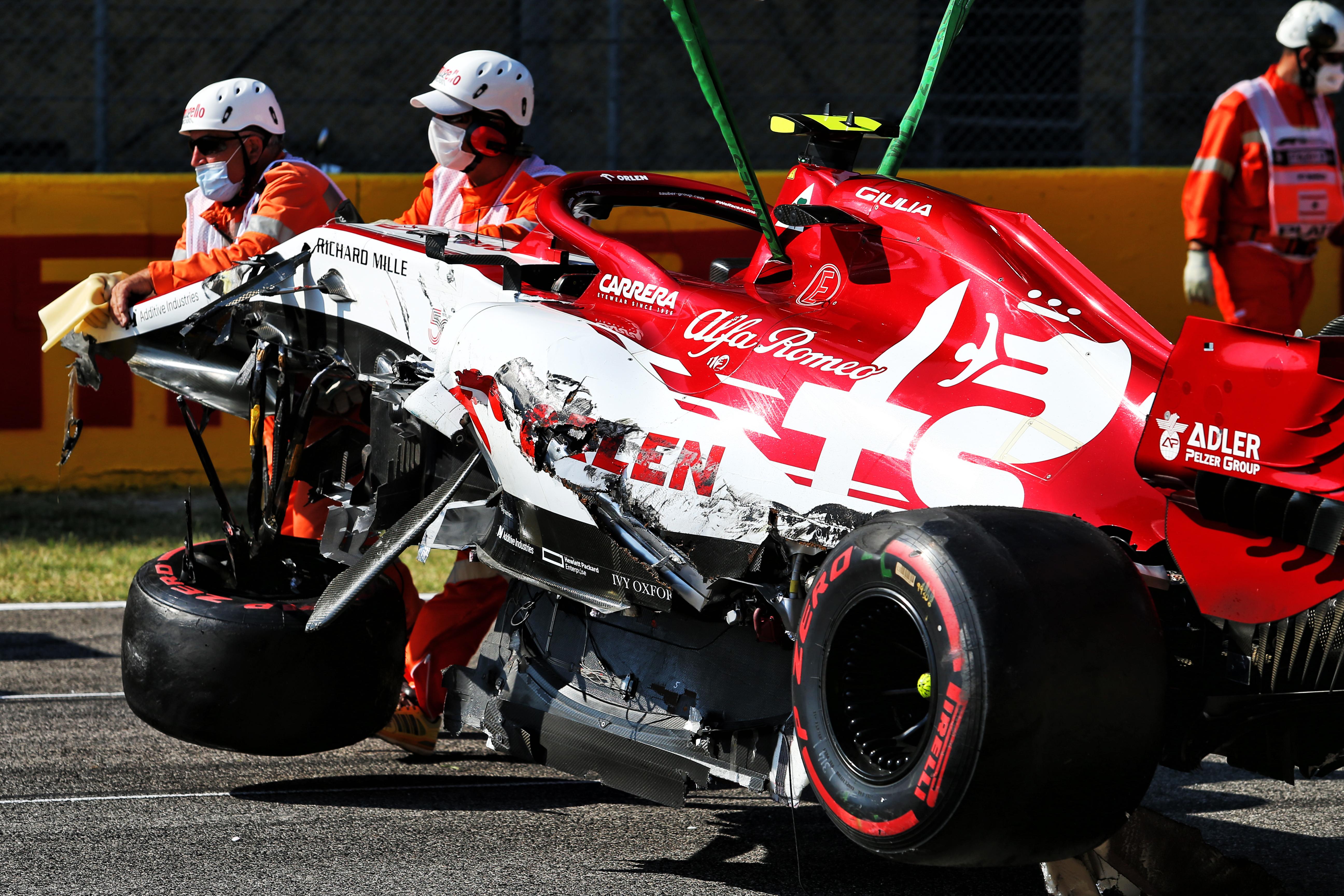 Antonio Giovinazzi Mugello restart crash 2020
