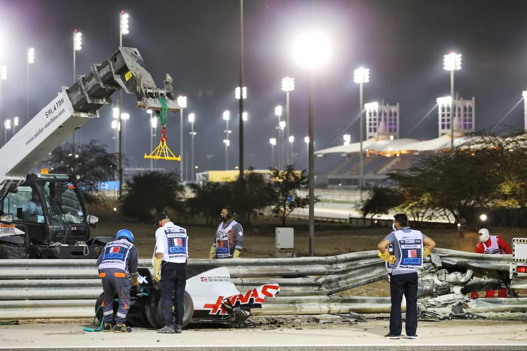 Romain Grosjean crash, Haas, Bahrain GP, F1 2020
