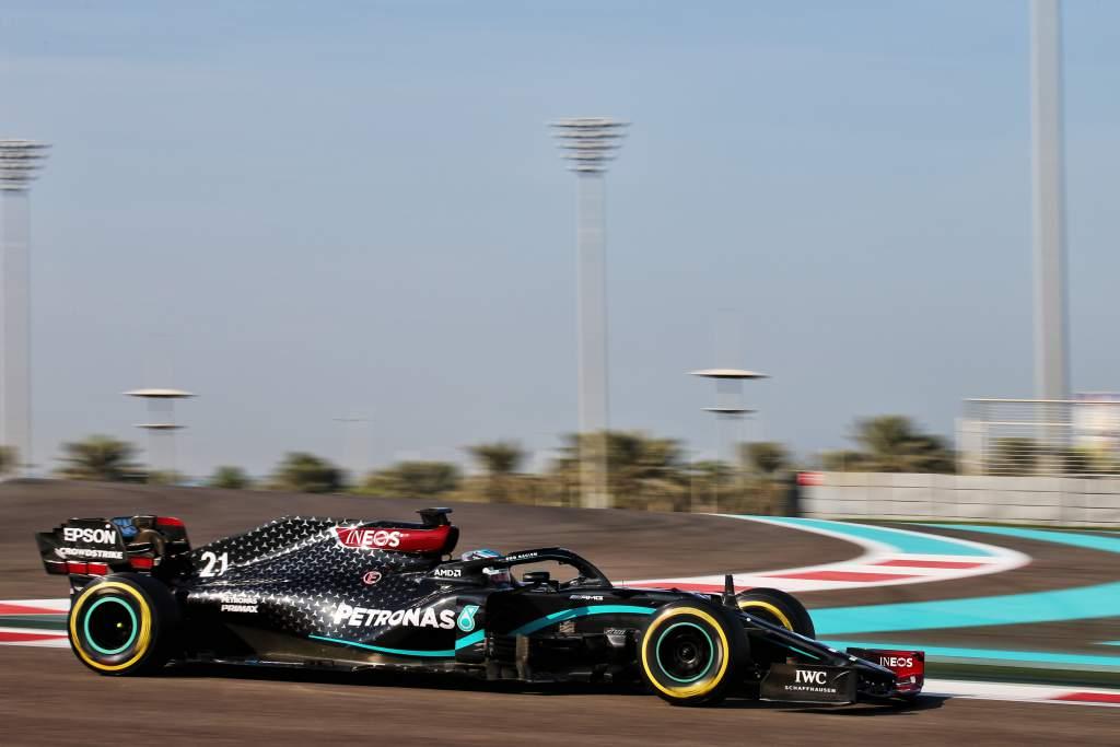 Nyck de Vries Mercedes F1 test 2020