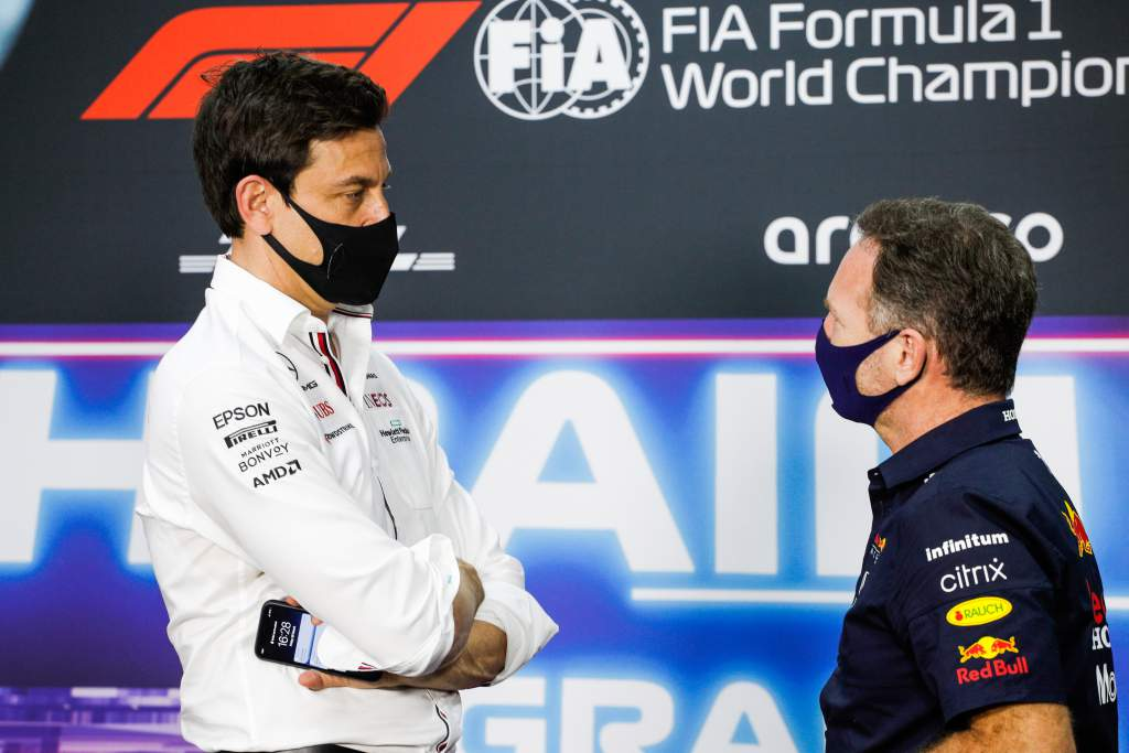 Toto Wolff Christian Horner Mercedes Red Bull F1