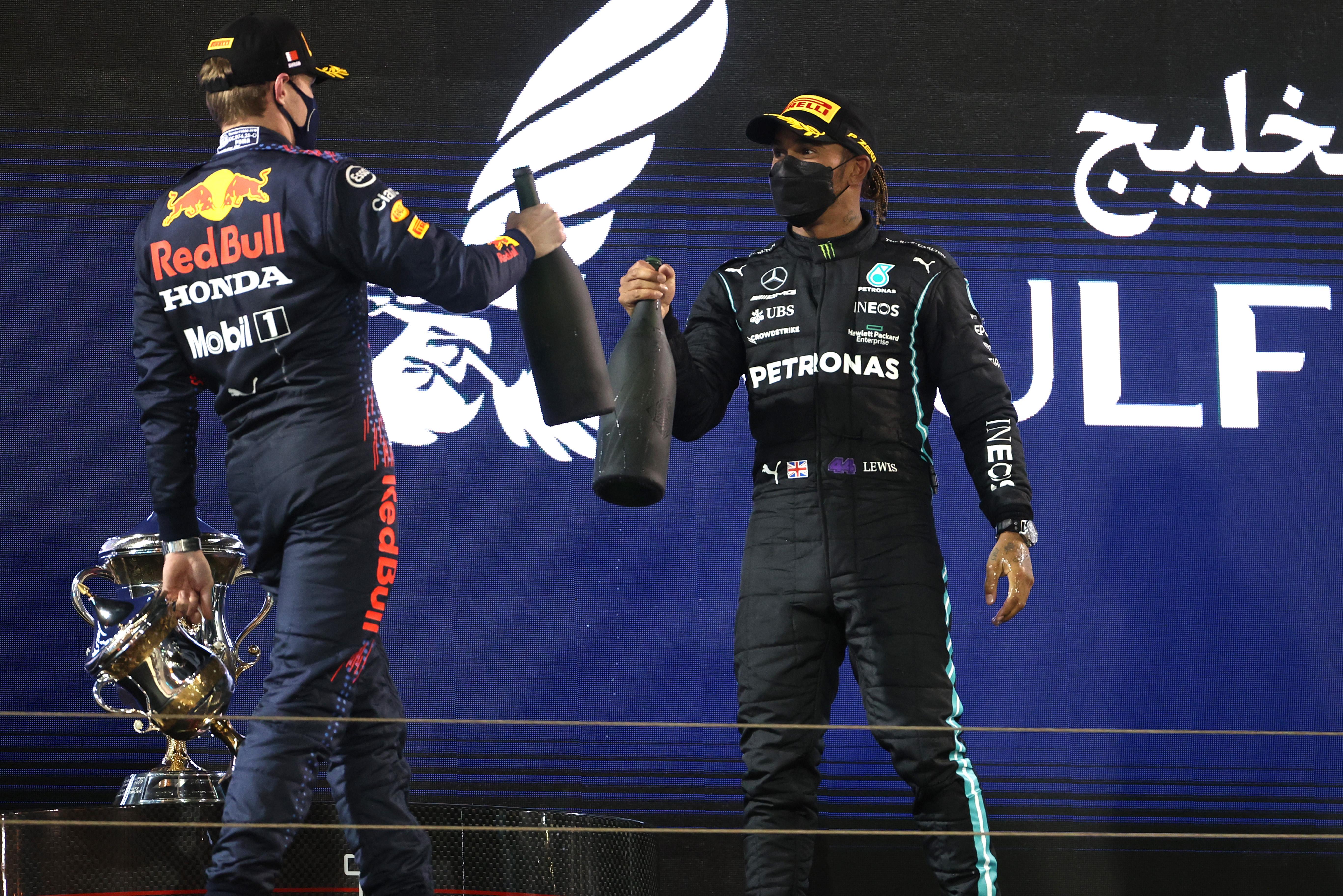 Max Verstappen Lewis hamilton Red Bull Mercedes F1 Bahrain 2021