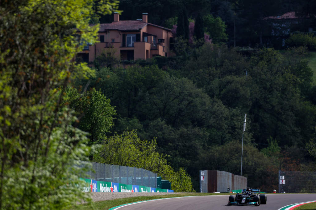 Lewis Hamilton Mercedes Imola 2021