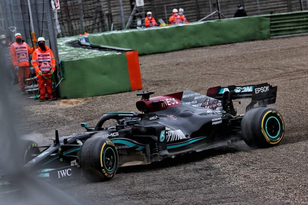 Lewis Hamilton off Imola F1 2021