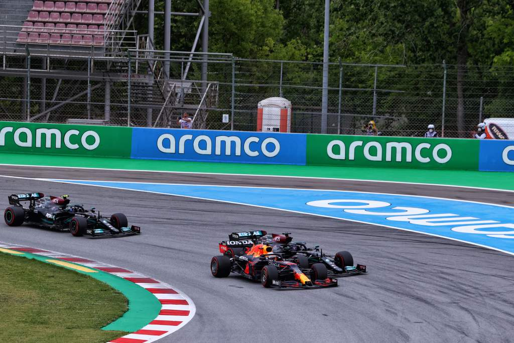 Max Verstappen Red Bull Lewis Hamilton Mercedes Spanish Grand Prix Barcelona 2021