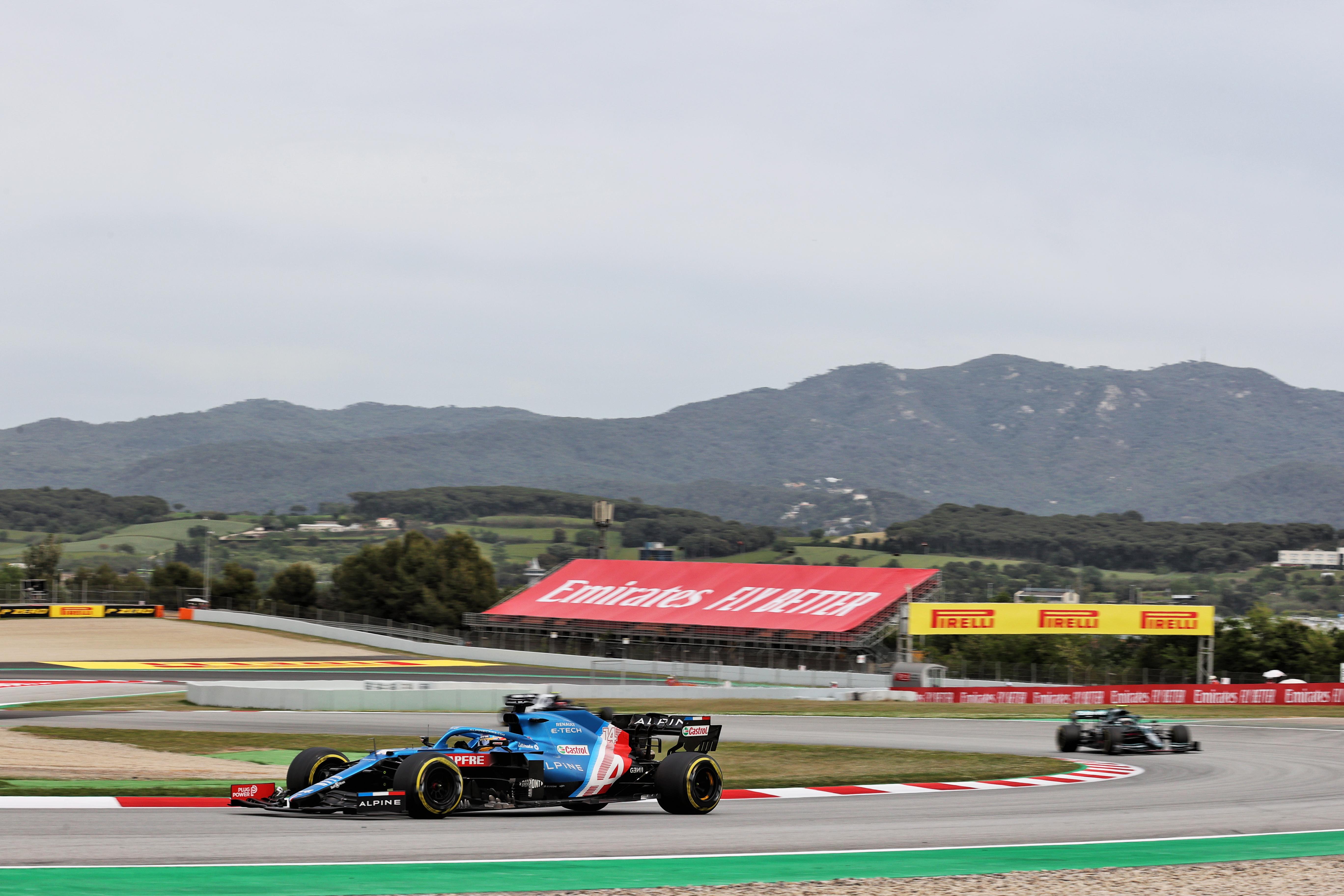 Fernando Alonso Alpine Spanish Grand Prix 2021 Barcelona