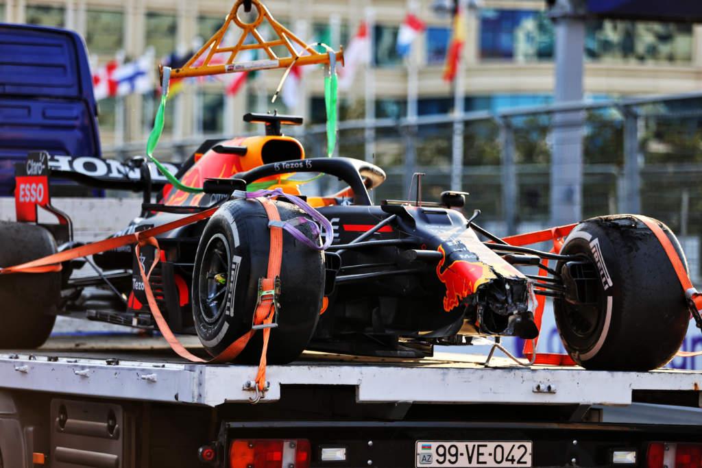 Max Verstappen Red Bull crash Baku F1