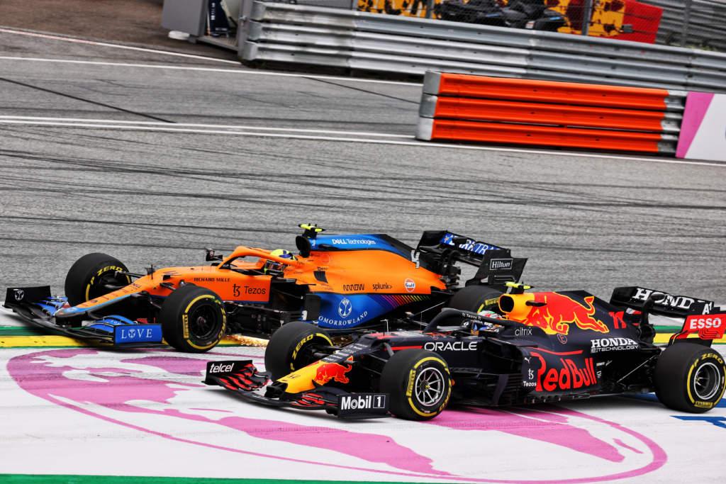 Lando Norris McLaren Sergio Perez Austrian Grand Prix 2021