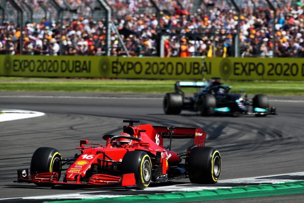 Charles Leclerc Ferrari Lewis Hamilton Mercedes British Grand Prix 2021 Silverstone