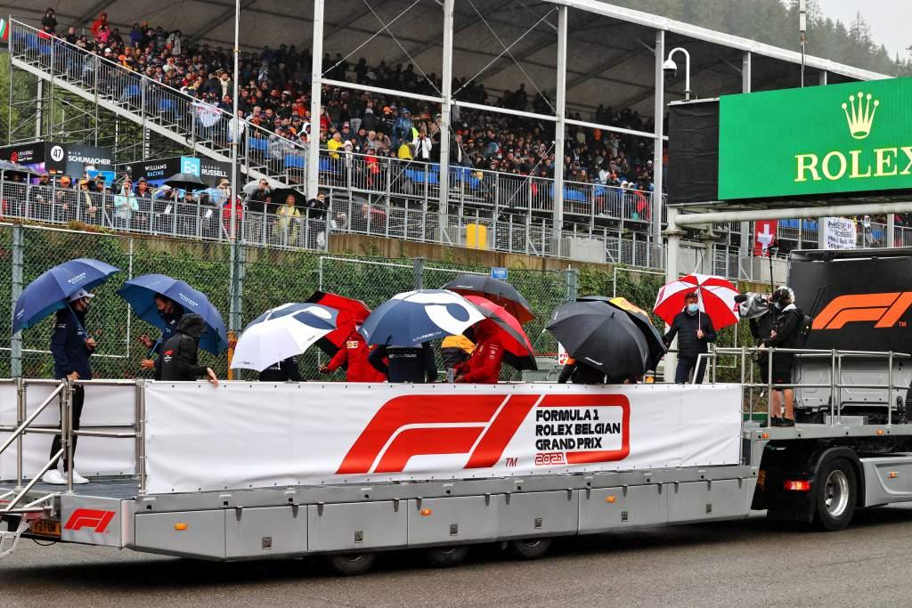 F1 driver parade Belgian GP