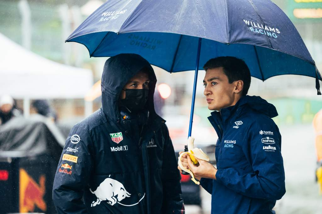 Alexander Albon George Russell F1 Red Bull Williams
