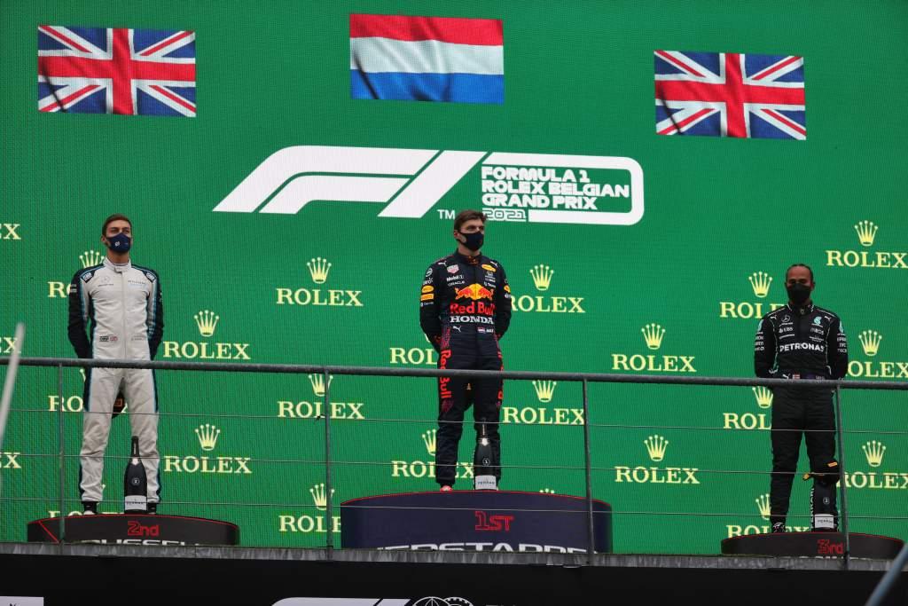 Belgian GP F1 podium