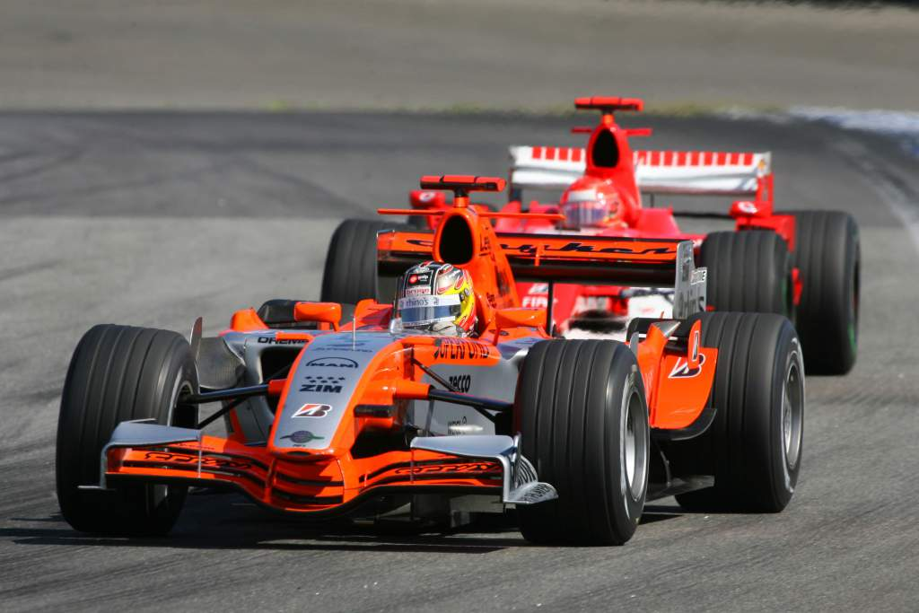 Tiago Monteiro, Spyker, F1