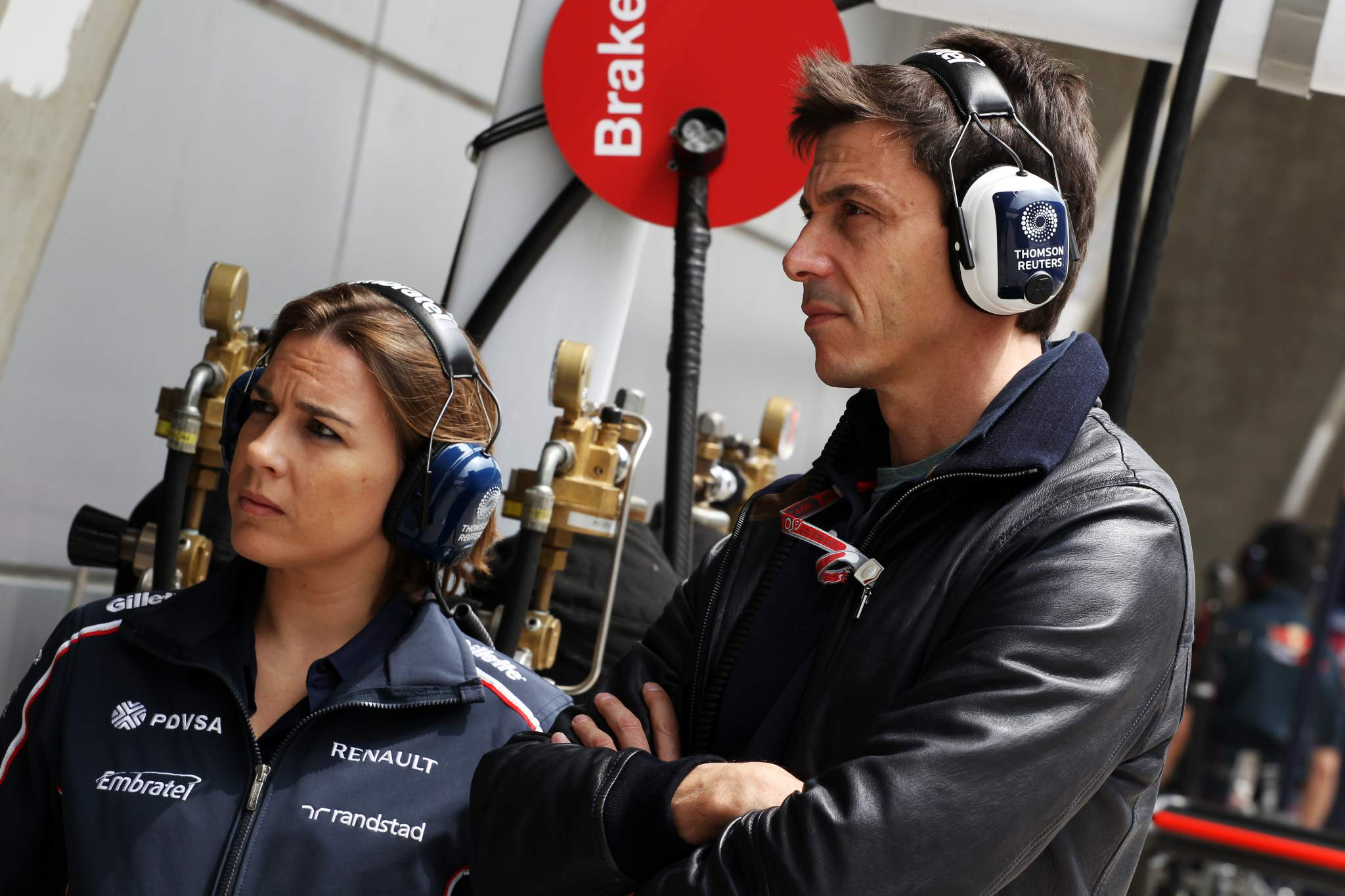 Claire Williams Toto Wolff 2012