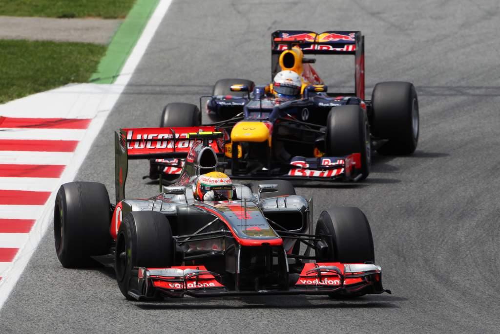Lewis Hamilton McLaren Sebastian Vettel Red Bull 2012