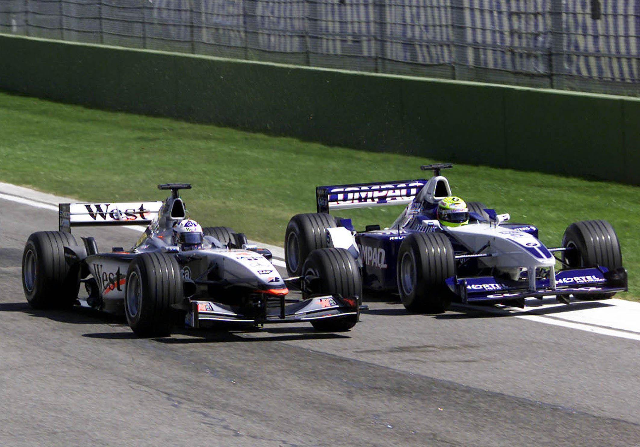David Coulthard McLaren Ralf Schumacher Williams San Marino Grand Prix 2002 Imola
