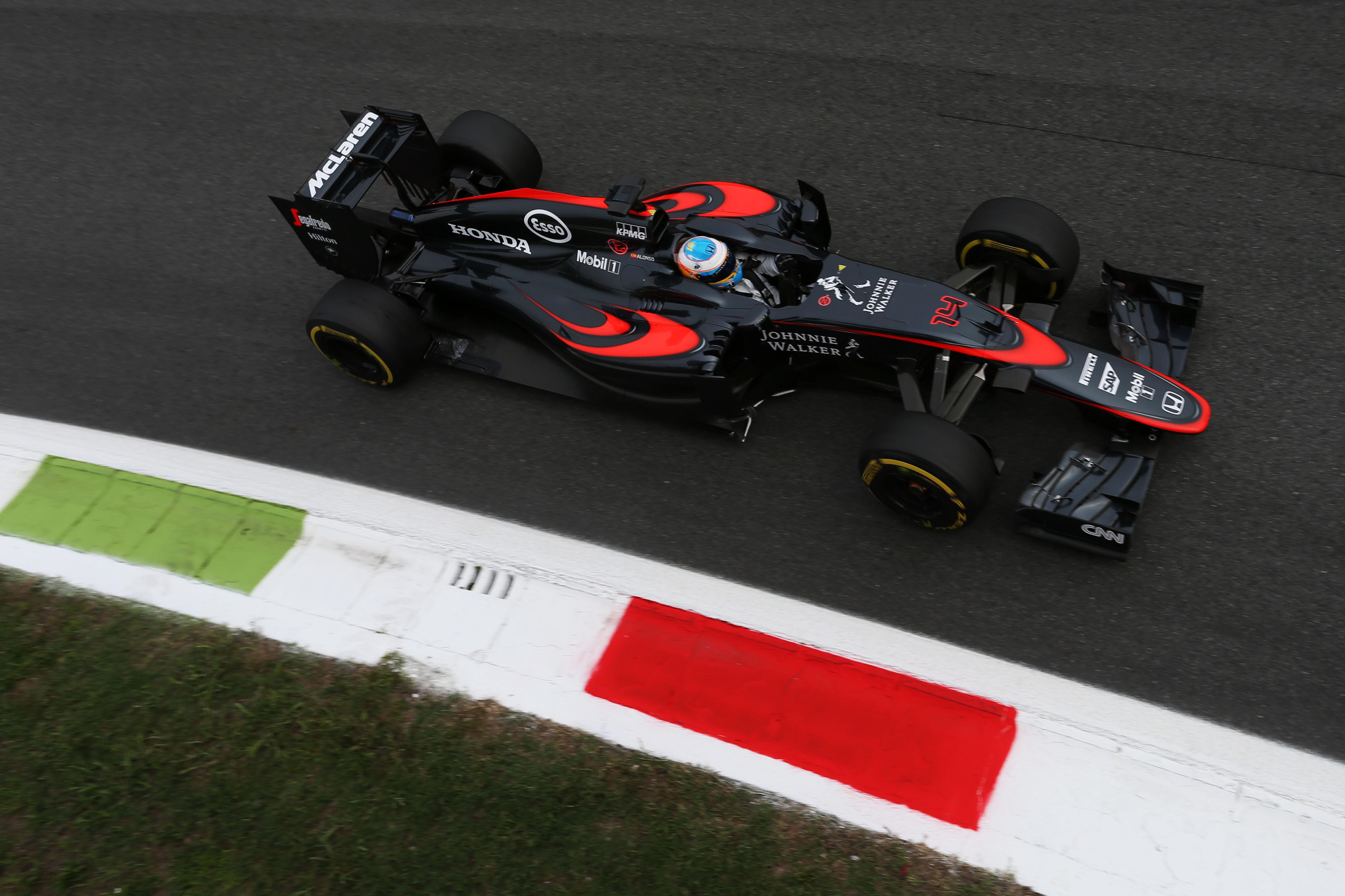 Fernando Alonso McLaren Italian Grand Prix 2015 Monza
