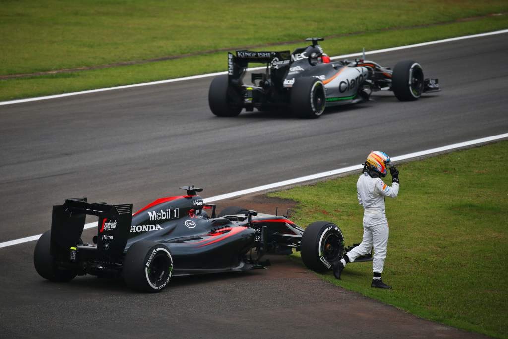 Motor Racing Formula One World Championship Brazilian Grand Prix Practice Day Sao Paulo, Brazil