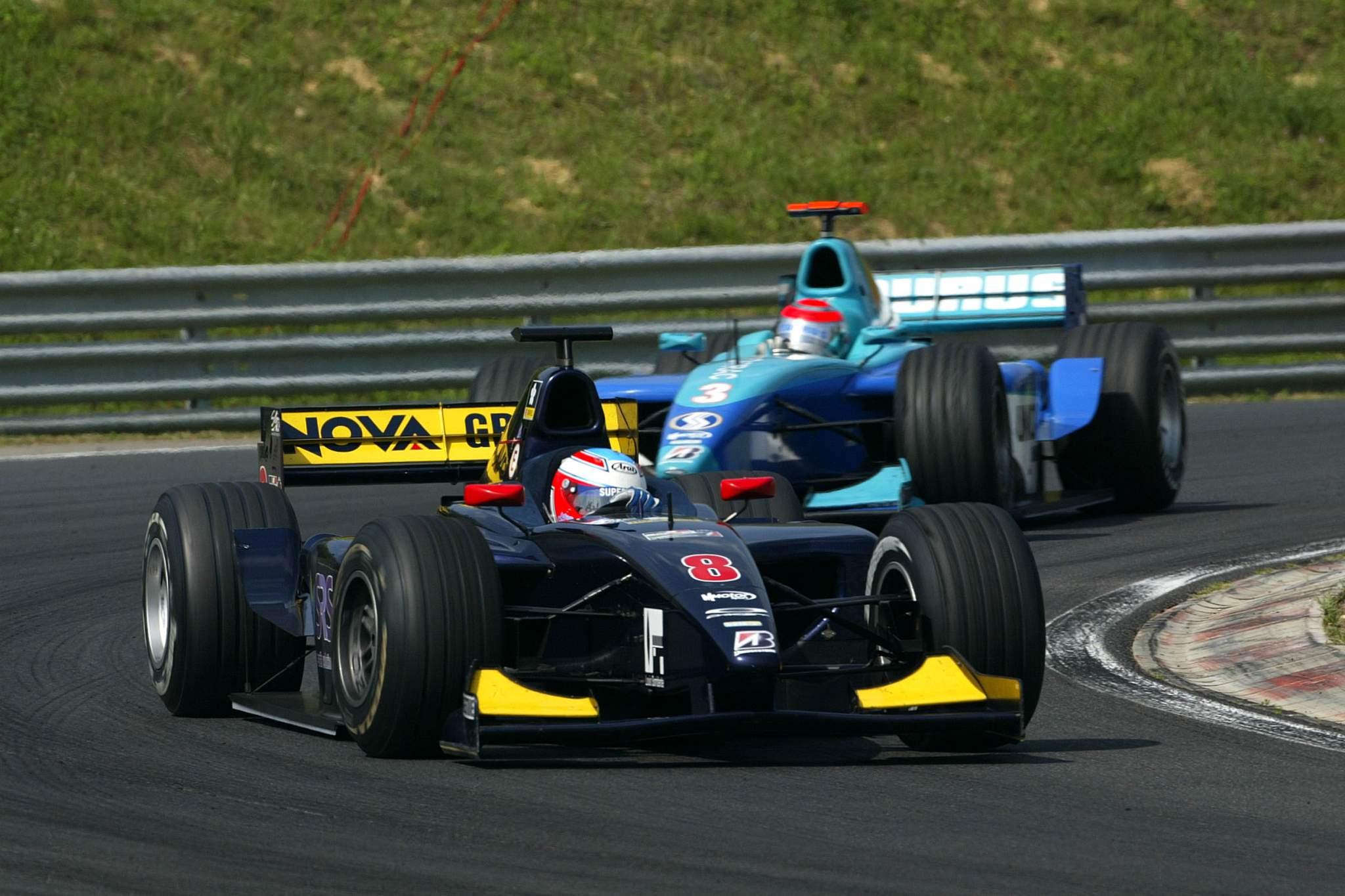 Adam Carroll Nelson Piquet Jr GP2 2005