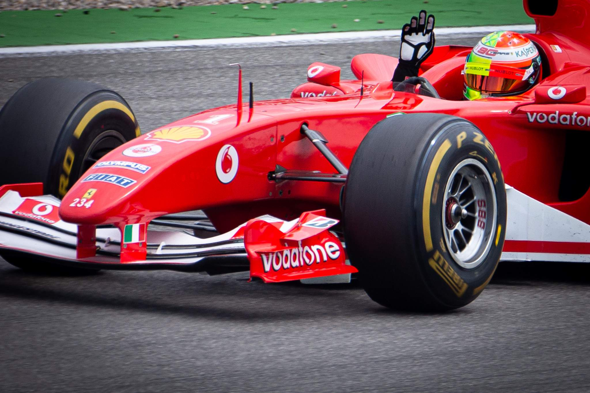 Motor Racing Formula One World Championship German Grand Prix Qualifying Day Hockenheim, Germany