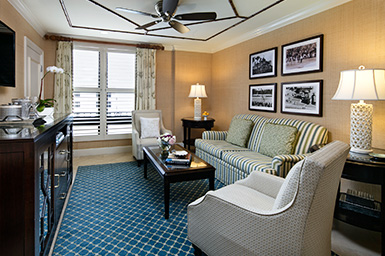 Deluxe suite sitting area