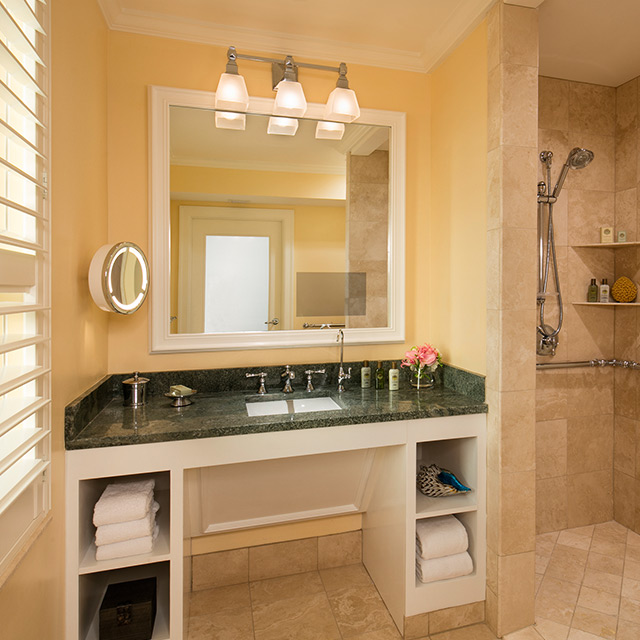 Accessible Guest Room with Resort View bathroom vanity